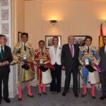 Ferrera, Perera y Ginés Marín, con el Rey Don Juan Carlos. Madrid, corrida de Beneficencia. 6 de junio de 2018