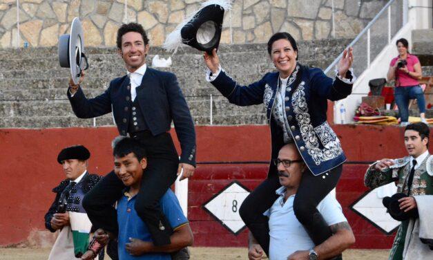 Leonardo Hernández y Ana Rita, a hombros en El Tiemblo