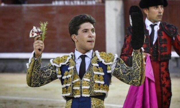 Oreja a la actitud de Rafael González en la novillada nocturna de Madrid