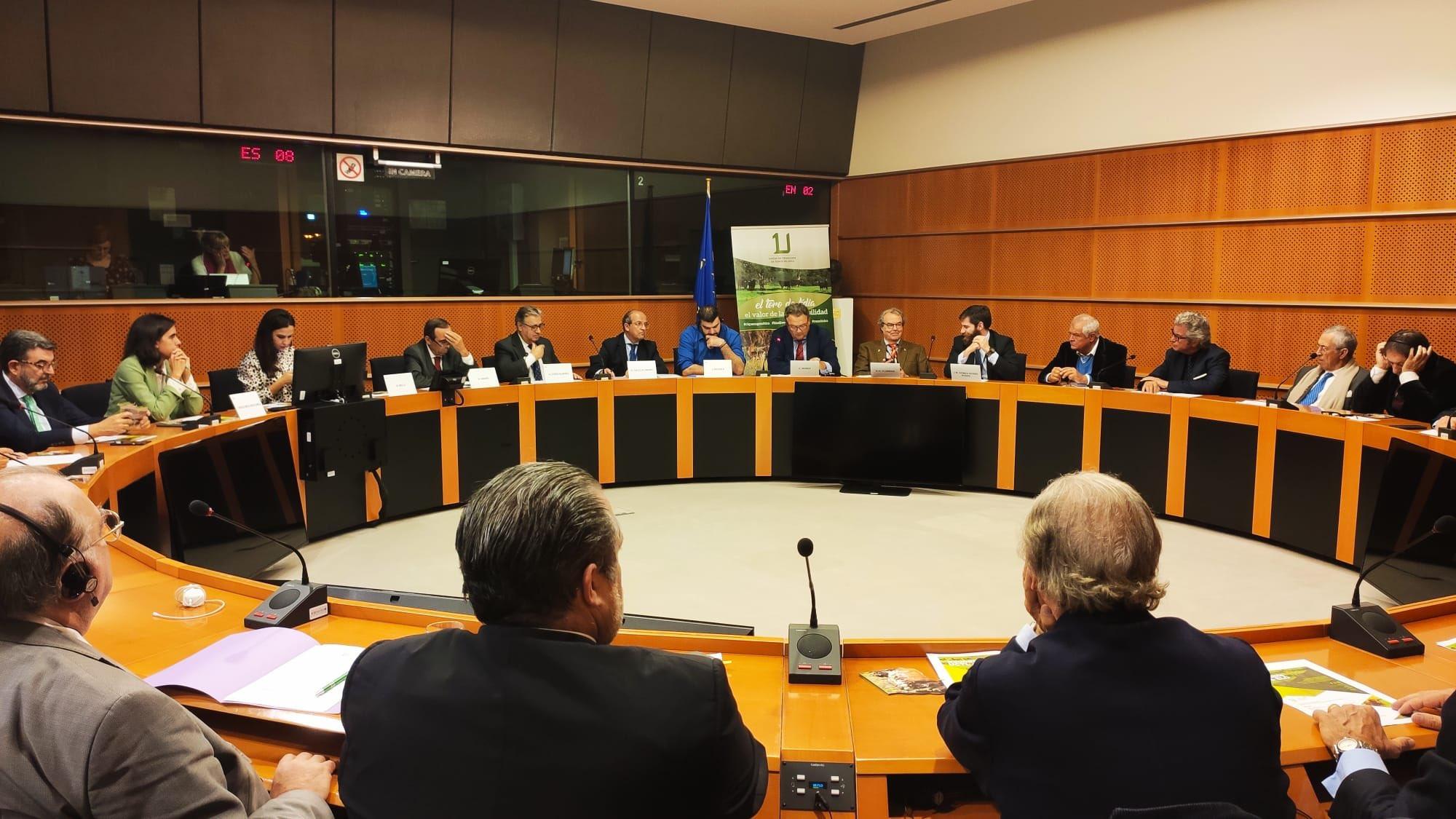 Unión de Criadores del Toro de Lidia, en el Parlamento Europeo