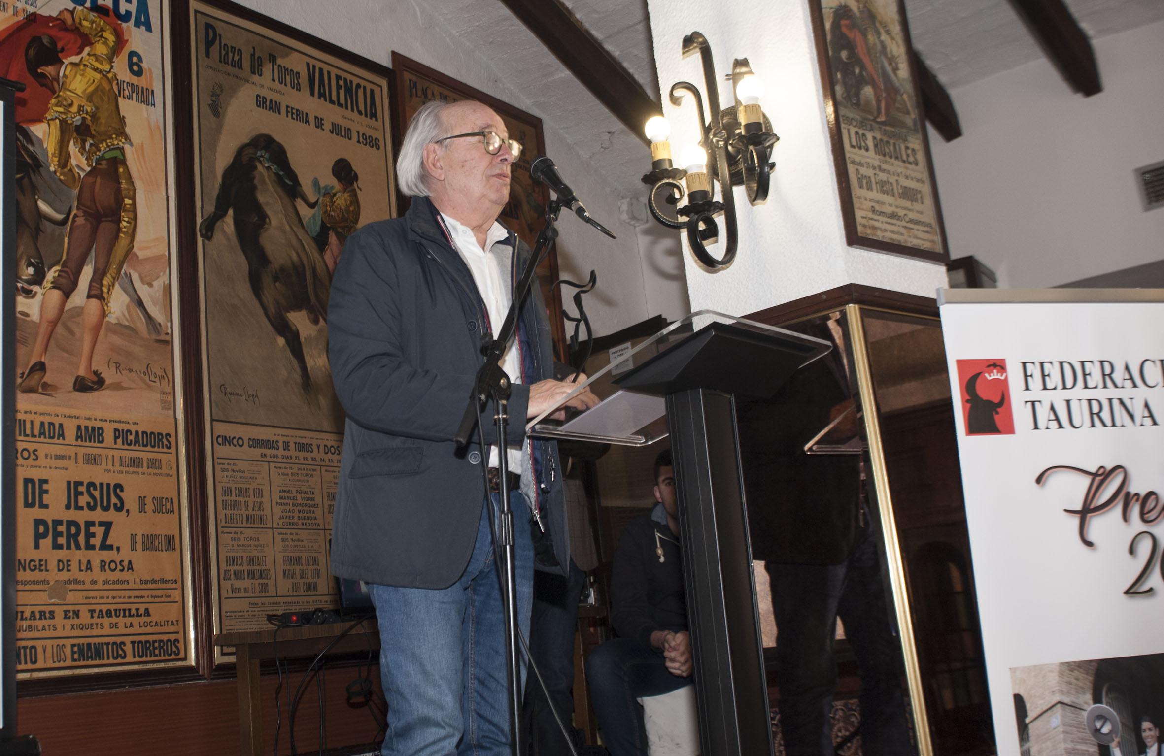 Entrega de premios de la Federación Taurina de Valencia