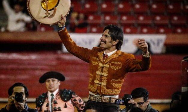 El rejoneador Emiliano Gamero, con apoderados