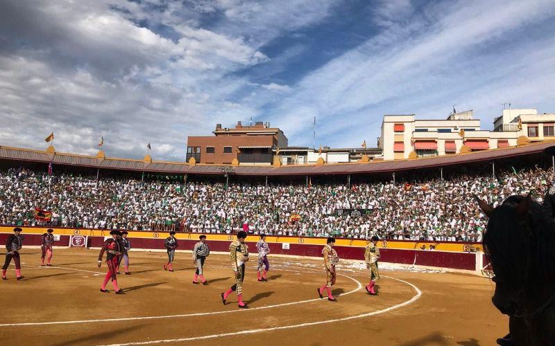 Paseíllo en Huesca el sábado 10 de agosto de 2019.
