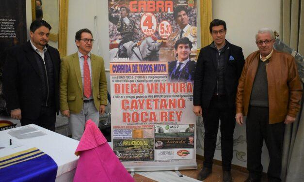 Ventura, Cayetano y Roca Rey, terna de categoría en Cabra