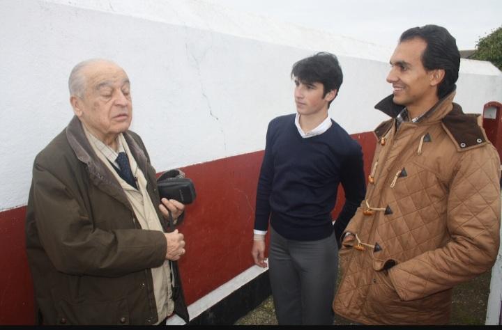 con Leandro y David Salvador en una tarde tienta.