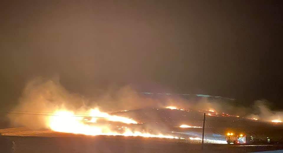 Incendio en la finca de El Soldao