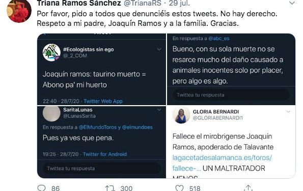 Las redes vuelven a vomitar odio tras la muerte de Joaquín Ramos