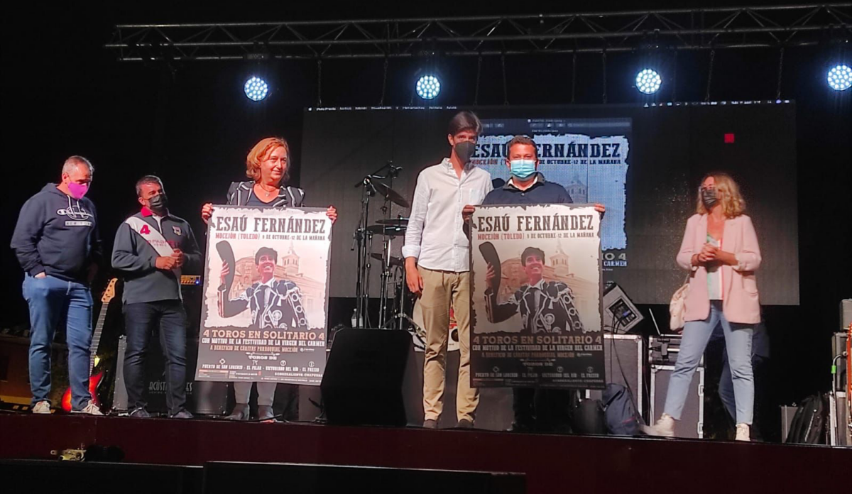 Esaú Fernández, encerrona solidaria en Mocejón